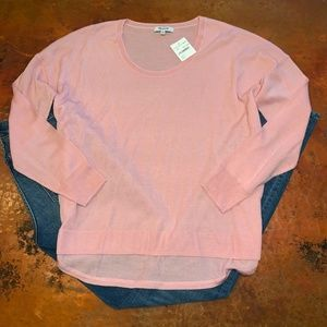 NWT Madewell Pink Light Weight Pullover Sweater
